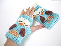 AllSoCute Amigurumis: Gloves Pattern, Owl Gloves Pattern, Tutorial, Crochet…