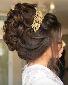 Wedding Hairstyles With Crown, Hairdo Wedding, Elegant Wedding Hair, Wedding Hair And Makeup, Bride Hairstyles, Updo Hairstyle, Quince Hairstyles, Bridal Hair Buns, Hair Upstyles