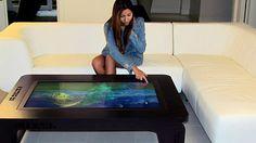 Multi Touch Hardwood Table - http://rahviews.com/peek/multi-touch-hardwood-table/