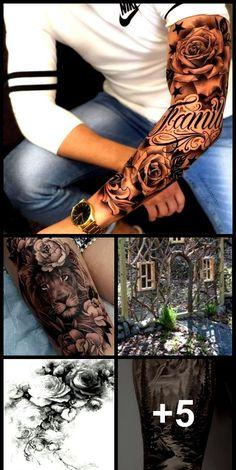 Realistic Tattoo Sleeve, Forearm Sleeve Tattoos, Half Sleeve Tattoos For Guys, Forarm Tattoos, Half Sleeve Tattoos Designs, Girl Arm Tattoos, Tribal Sleeve Tattoos, Dope Tattoos, Best Sleeve Tattoos