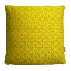 Acid Yellow Geometric Cushion Cover  £65.00 | Designed an woven by Emily Mackey ©