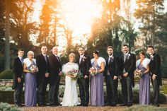 the bridal party at winter wedding iscoyd park  by Tobiah Tayo Photography