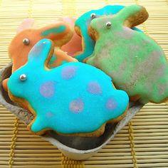 Biscoitos de limão que fiz com a minha filha para a Páscoa - Lemony Rabbits my daughter and I made for Easter