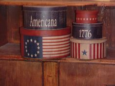 primitive Americana boxes