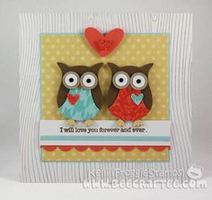 Cute Owls - Stampin' Up! (since I have yet to use the true owl punch)