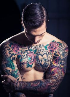 While tattoos are generally awesome, there is something quite special about an ink masterpiece placed on a man's chest. Somehow, a chest tattoo is bolder,