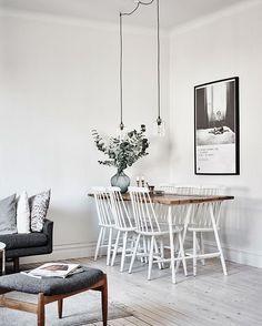 """129 curtidas, 4 comentários - Mercadinho Design (@mercadinho.design) no Instagram: """"Tudo clarinho e calmo para começar a semana via #pinterest .. #decoração #decor #livingroom…"""""""