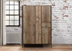 Birlea Urban Rustic 4 Door 1 Drawer Wardrobe with Metal Frame - available to buy online or at Choice Furniture Superstore UK on stockist sale price. Get volume - discount with fast and Free Delivery. 4 Door Wardrobe, Double Wardrobe, Wooden Wardrobe, Wardrobe Furniture, Wardrobe Drawers, Small Wardrobe, Bedroom Furniture Sets, Nice Furniture, Bedroom Sofa