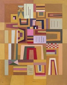 "Wassiliy Kandinskiy ""Compensation pink"" (1933) Nantes, France. Museum of fine arts Could so be a quilt."