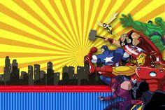 Resultado de imagem para convites de aniversario infantil para editar e imprimir marvel Happy 7th Birthday, Safari Birthday Party, Superhero Birthday Party, Avenger Party, Avengers Comics, Marvel, Diy Invitations, Birthday Invitations, Chevron Wall Art