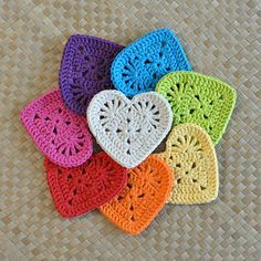 I wanted to make a flatter, more solid and multi-purpose Granny Heart coaster. Success! Plus, this Granny Heart is also the perfect applique for decorating a variety of projects like gift bags, totes, baby clothes, and banners. The opportunities are endless!
