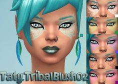 Taty: Tribal Blush 02 • Sims 4 Downloads