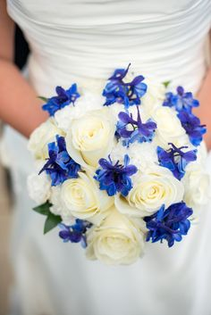white and blue wedding bouquet S Rain Photography - Minneapolis St Paul wedding photographer