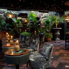 London members club Annabel's has teamed up with vibrant interiors brand House of Hackney to give the club's Terrace a new look