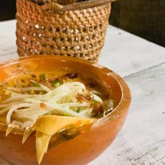 Lovely vegan curry of clove, cardamon, nutmeg and coconut with banana blossoms, long beans, cabbage and young papaya. Banana Blossom, Long Bean, Vegan Curry, Blossoms, Thai Red Curry, Main Dishes, Bali, Cabbage, Restaurants
