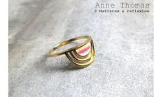 Anne Thomas Bague Sunset dorée laquée #annethomas #ring #bague #sunset #doré #laqué #golden #gold #color #summer #été #ss15 #jaune #rose #bleu #vert #yellow #bijoux #jewel #jewellery #fashion #green