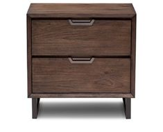 Mountain Loft 2 Drawer Nightstand with Power