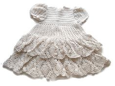 Crochet Baby Dress - Infant - preemie - Newborn - Reborn Doll Clothes - Off White Dress - OOAK - Off White Dresses, Reborn Baby Dolls, Handmade Baby, Beautiful Babies, Crochet Baby, Doll Clothes, Infant, Baby Dresses, Trending Outfits