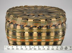 Antique Baskets, Painted baskets, Wall Basket, Covered Basket Native American