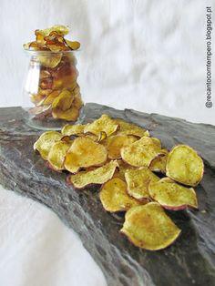 Chips de batata doce {no forno}
