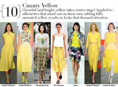London Spring 2014 Top Trends - CANARY YELLOW