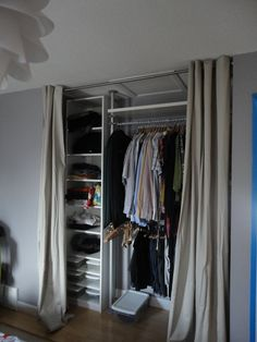 add a nook in wasted space for extra closet  STOLMEN closet idea from Ikea