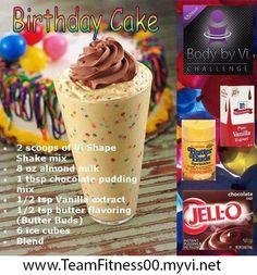 A healthy birthday cake shake http://www.goherbalife.com/melanieanderson/en-US