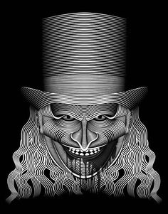 Creative Black and White Fonts Plus Line Illustrations by Patrick Seymour Patrick Seymour, Art Et Illustration, Illustrations, Op Art, 3d Illusion Art, Scratchboard Art, Acid Art, Graphisches Design, Photo Images