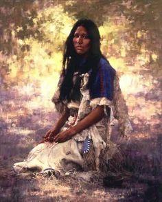 Howard Terpning - Art of the Native American Woman Native American Women, American Indian Art, Native American History, American Indians, Native American Paintings, Indian Paintings, American Artists, Tatoo Africa, Native Indian