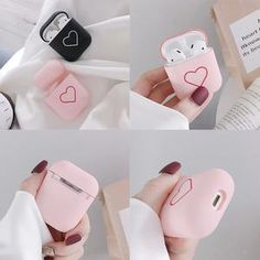 Corazón - AirPods – Case in a Box Fone Apple, Apple Airpods 2, Apple Earphones, Art And Craft Videos, Earphone Case, Air Pods, Ipod Cases, Cute Cases, Iphone Accessories