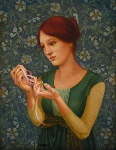 James C. Christensen - The Pink Ribbon
