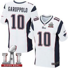 Nike Patriots #10 Jimmy Garoppolo White Super Bowl LI 51 Elite Jersey