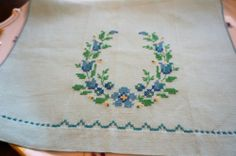 Embroidered Linen Kitchen Towel or Guest Towel | eBay