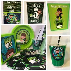 Ben 10 Theme supplies, favours and decor. We design and create any theme for any occasion and age customised according to your specifications. Door to door courier country wide at affordable prices - unique and convenient. Styling and set-up packages available in Pretoria and Johannesburg at you own venue or at one of our Alberton venues. Visit our website www.kidzpartycorner.co.za or email Info@kidzpartycorner.co.za for more details