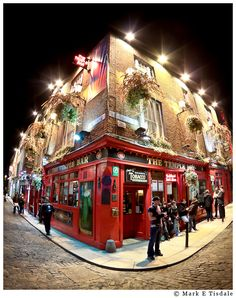 Temple Bar - Fisheye photo from my last night in Dublin - probably my most popular image from Ireland. I had not yet even had time to add this to my prints collection in 2010 when someone requested it. :-)