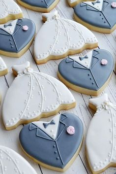 Wedding Cake Cookies Decorated Ideas ❤ See more: http://www.weddingforward.com/wedding-cake-cookies/ #weddings