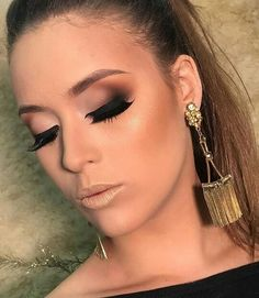 Eye Makeup Tips, Eyebrow Makeup, Glam Makeup, Makeup Geek, Love Makeup, Makeup Trends, Beauty Makeup, Makeup Looks, Cheer Makeup