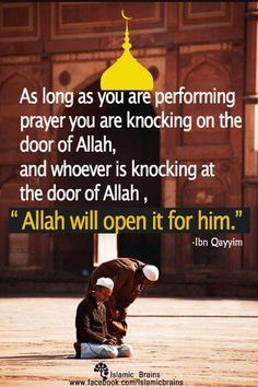 """Allah will Open it for you ""!"