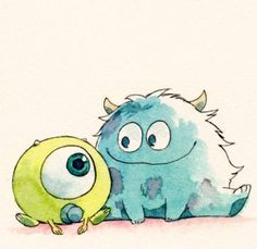 mike and sulley babies
