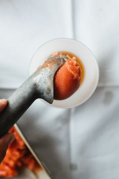 Bourbon Float with Nectarine Sorbet | Not Without Salt