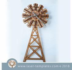 Windmill Clock Afrikaans (Vrugte van die Gees) Windmill Clock, Clock Template, Fruit Of The Spirit, Borders And Frames, Flower Template, Scroll Saw Patterns, Visual Effects, Afrikaans, Vector File