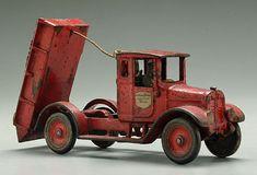 Cast iron dump truck