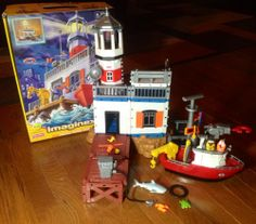 Coastal Patrol Toy Set Retired By Fisher Price Imaginext | evezbeadz.artfire.com ($100 pick up at my home)
