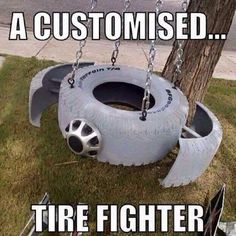 Star Wars tire swing - Star Wars Family - Ideas of Star Wars Family - Star Wars tire swing