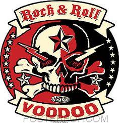 Vince Ray Rock Roll Voodoo Sticker