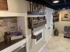 Black Ceiling, Basement, Kitchen Cabinets, Flat, Home Decor, Bass, Decoration Home, Room Decor, Kitchen Base Cabinets
