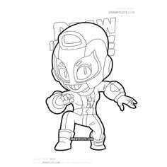 The Effective Pictures We Offer You About Brawl Stars Coloring Pages spike A quality picture can tel Ninjago Coloring Pages, Star Coloring Pages, Coloring Pages For Boys, Coloring Sheets, Blow Stars, Super Easy Drawings, Cute Gif, Drawing S, Game Art