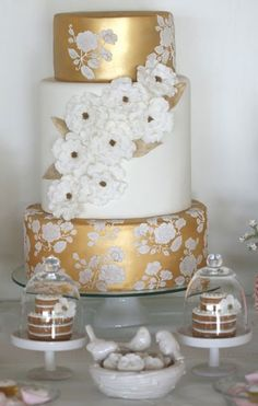 Three Tier cake for Golden Wedding Anniversary