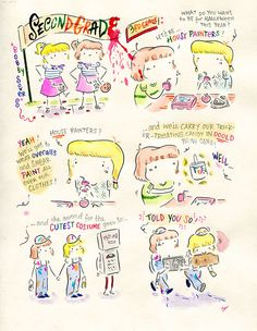 Leslie's Diary Comics - Double Trouble  #illustration #comics