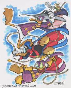 I couldn't decide on Web-Footed Wonders or Avian Avengers Mickey Mouse Cartoon, Mickey Mouse And Friends, Cartoon Tv, Disney Magic, Disney Art, Pixar, Donald And Daisy Duck, Walt Disney Characters, Dark Wings